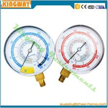 bottom connection refrigerant pressure gauge with 1.6% accuracy