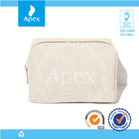 lady travel canvas handle cosmetic bags
