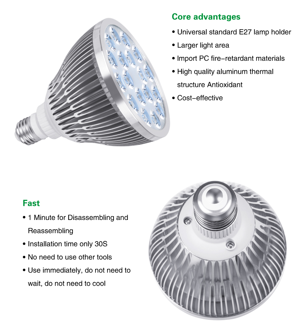 54W 36W LED Grow Light Indoor growing lights Hydroponics growing system For Garden Greenhouse plants Herbs Vegetable Flowers (12)