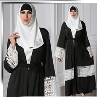 X86512A Women latest chiffon clothes for women dubai abaya turkey Muslim dress