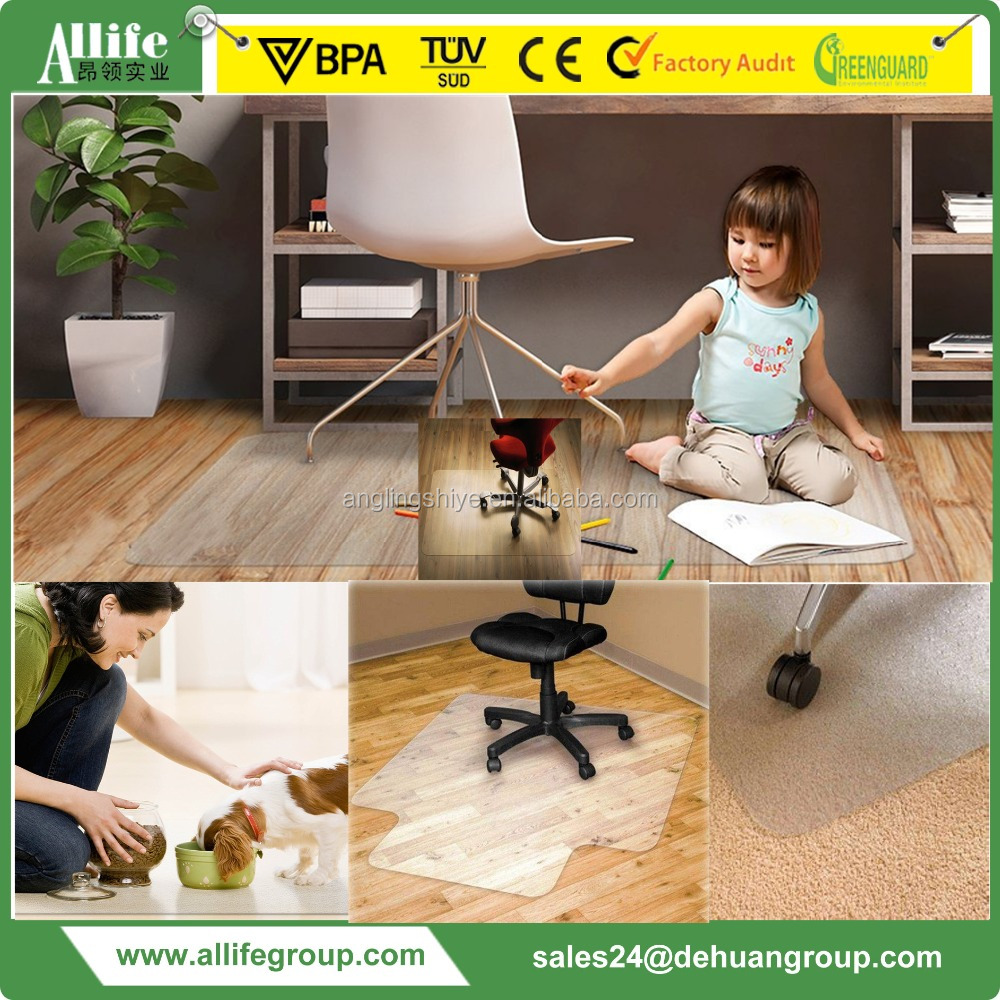 Custom Kids High Chair PC PVC Plastic Mats for both woodfloor carpet