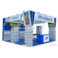 Detian Offer 20x20 feet practical new design curved best trade show display creative displays food booth