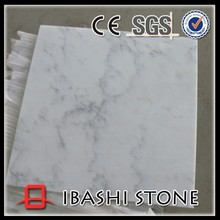 Natural white grey vein marble tiles from china
