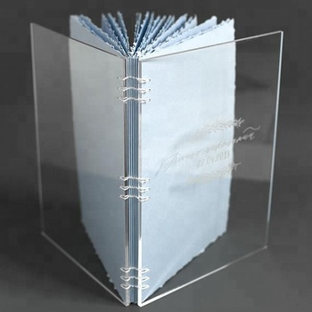 Clear Engraved Acrylic Book Cover