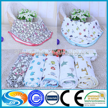 cotton printed bamboo muslin gauze fabric for baby diapers