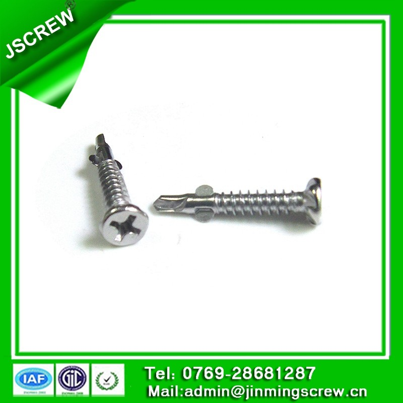 Flat Head Phillips Self Drilling Screw with Wings