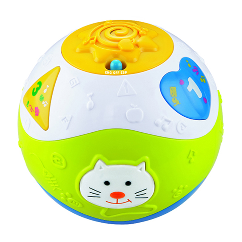 Full functional musical plastic educational electronic baby ball