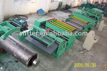 Automatic high speed leveling and slitting line