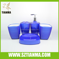 2015 High popularity Purple Liquid Bathroom Accessories Set Factory