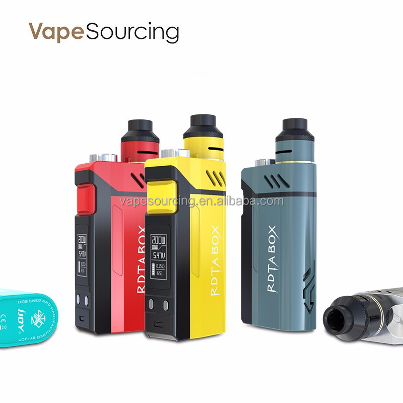 Newest e-cigarette of IJOY RDTA BOX 200W box mod with best price in vapesourcing