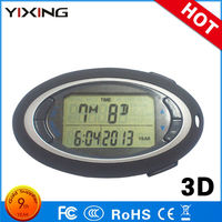 12 / 24 Hours Time Function 3D Step Counter