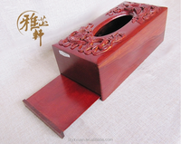 Yazhixuan Quality Product Wooden Carving Handicrafts Of Tissue Box for Home Or Hotel Decoration