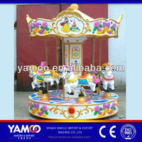 Family Kids Indoor Carousel Horses for Sale 6 seats