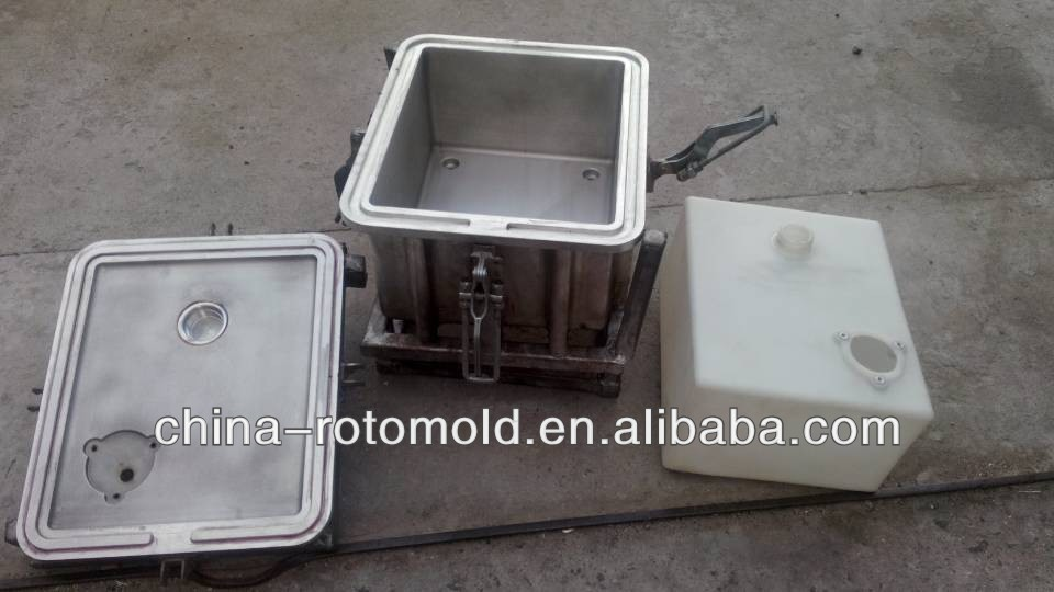 Rotational moulding plastic water/oil/fuel/urea tanks mold, rotomolding container mould, rotomolded bucket/box roto mould