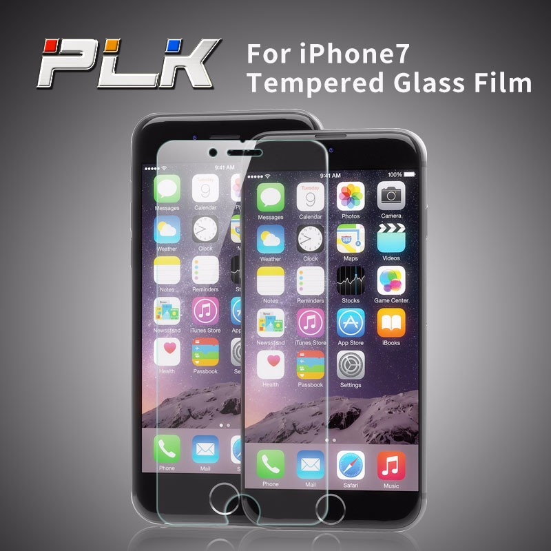 Tempered Glass Screen Protector for Iphone7 - 9H Hard High Definition Crystal Clear Round Angle