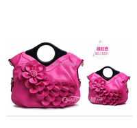 Lady evening handbag purse with flower design for wedding in different colors