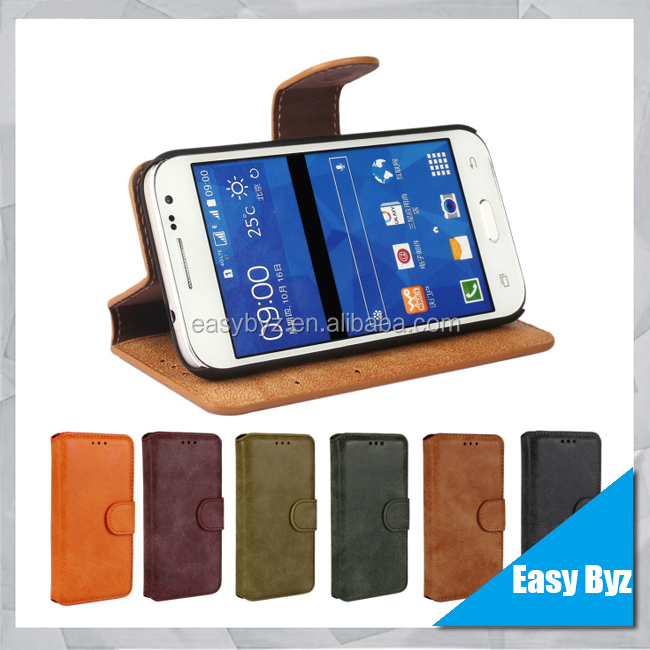 For Samsung Galaxy Core Prime G360 High Quality Flip PU Leather Case Cover Moible Phone Case