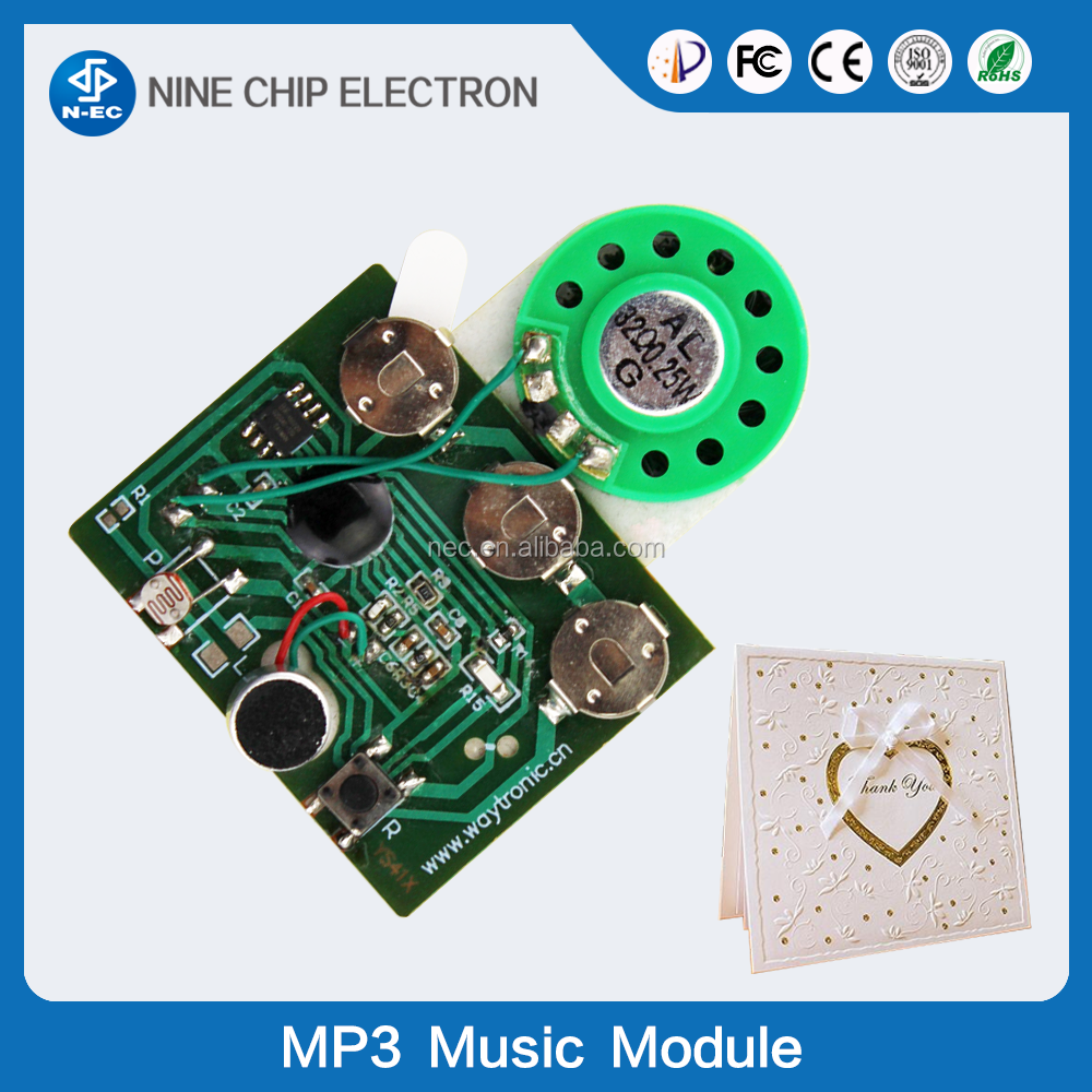 OEM and ODM custom greeting card sound module