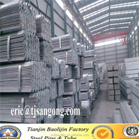 Standard weight equal galvanized angle bar