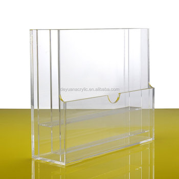 Transparent Acrylic Catalog Holder Brochure Holder Display