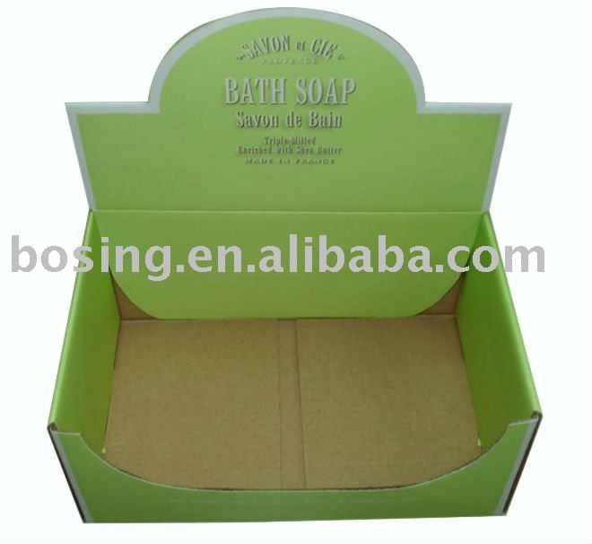 special design paper display box for soap