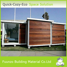 Plastic Wood Luxurious Movable Prefabricated Houses