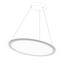 580mm Diameter 40w Suspended Dimmable Thin Led Round 50% UP and 50% Down Panel Light <strong>flat</strong> details