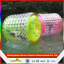 Human inflatable water rolling ball, inflatable water swimming pool roller water toys for fun