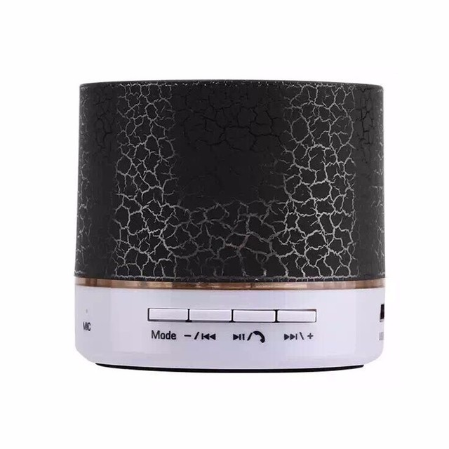 LED Mini Wireless Bluetooth Speaker TF USB FM Portable Music Loudspeakers Hand-free call For iPhone 6 Mobile Phone PC with Mic