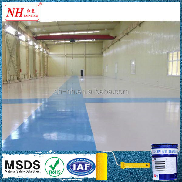 anti-fungus resists oil stains water based epoxy floor coating