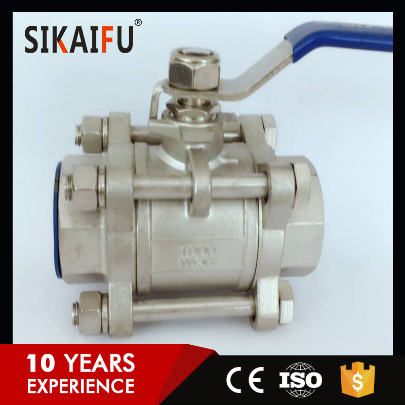 stainless steel cf8m wafer flanged high temperate float ball valve