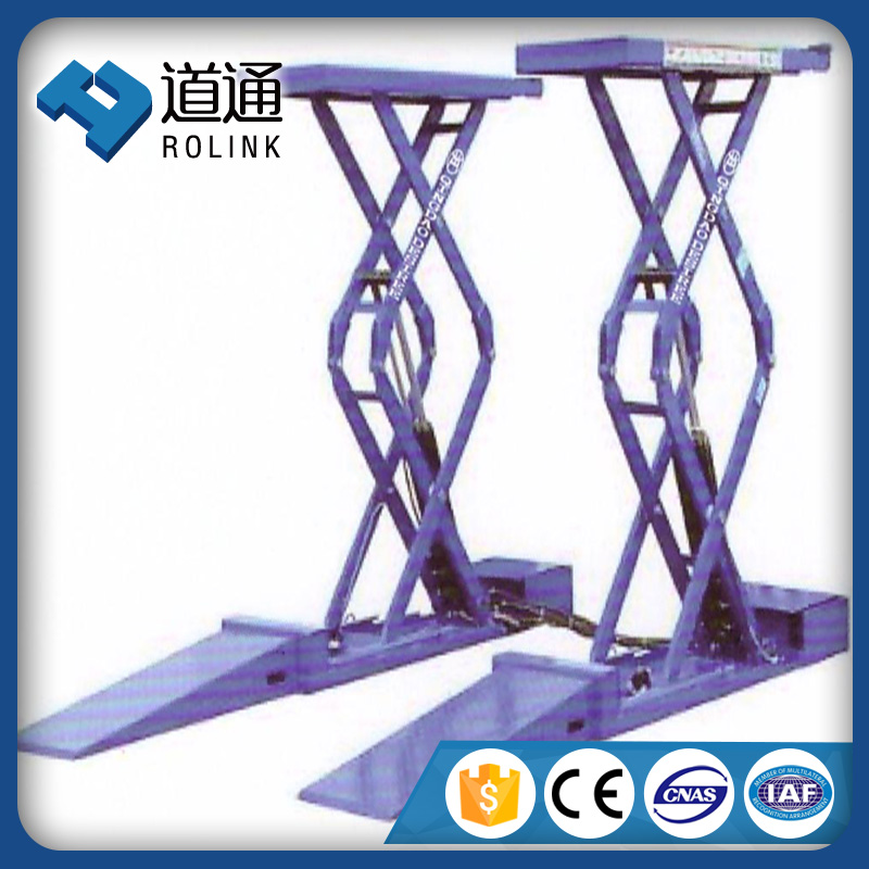 Hot rise trailer car lifts