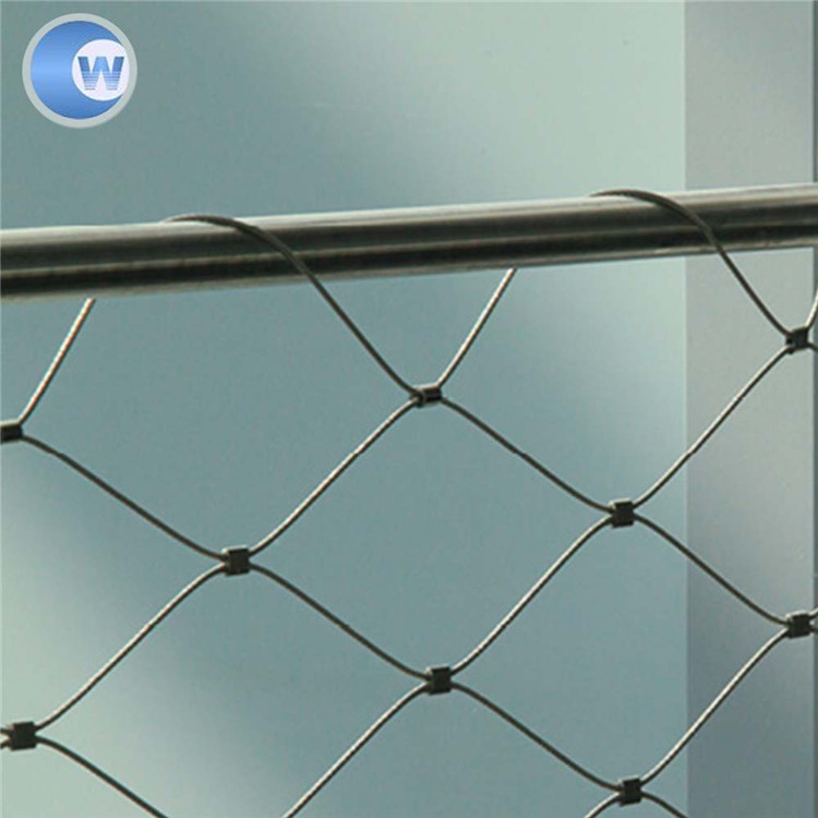 Cheap wire dianeter 6mm ss 304 security screen protect cable mesh/aviary birds netting cable cages mesh