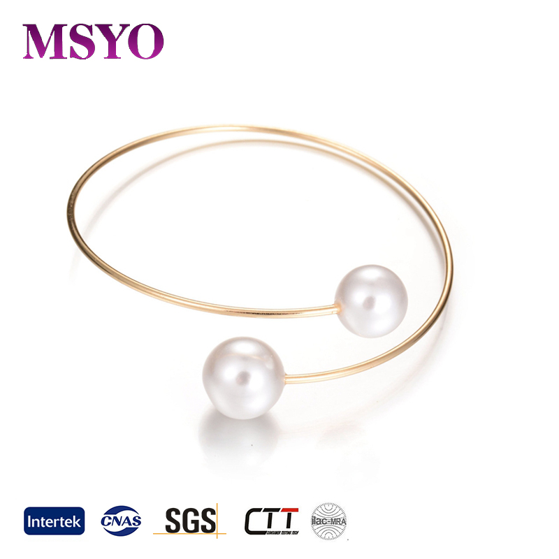 MSYO brand 2017 fashion pearl bracelet new designs gold bracelet