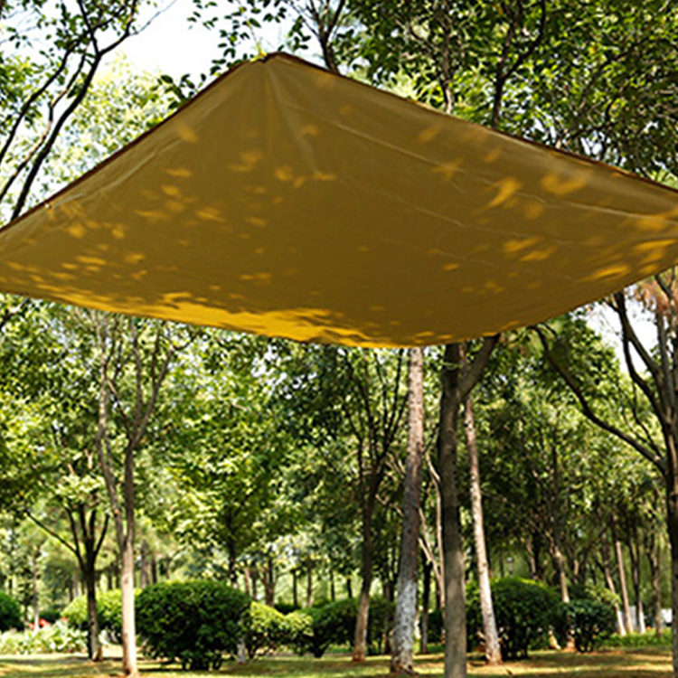 Wholesale Outdoor Waterproof Square 3-4 Person 190T Polyester Camping Hammock Beach Rain Fly Tent Tarp