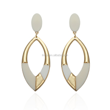 Low price fashion jewelry latest trendy design water droplets shape multicolor acrylic women earring