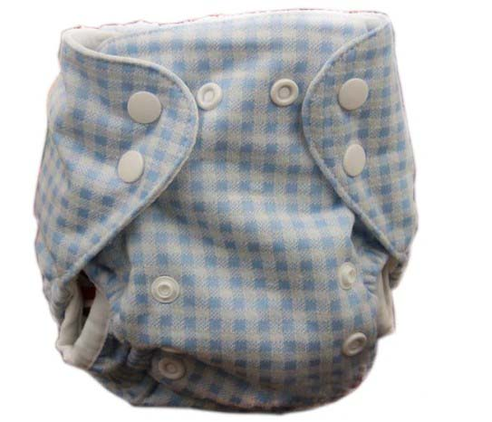 Newborn Baby Cloth Diaper Cotton Material Outside Birdeye Inner Material Outside Double Gussets without Inserts