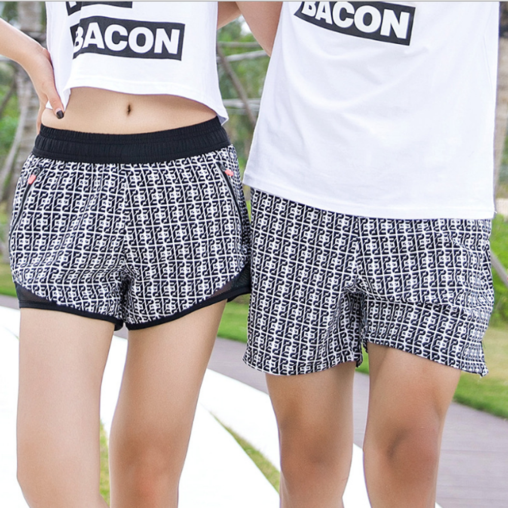 Lovers Beach Pants Fast Dry Shorts Black And White Sublimation Mens Shorts