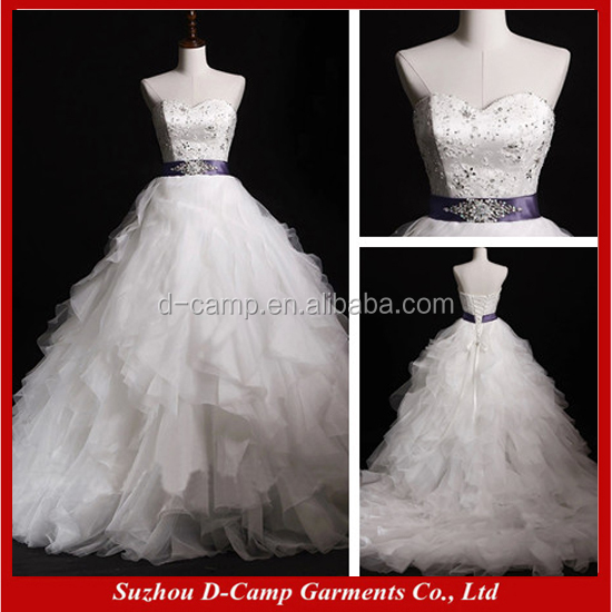 WD050 Real pictures of cinderella wedding dress bridal gown