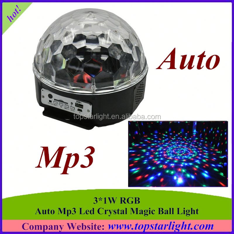 LED World Cup crystal magic ball with mp3 and usb and sd card *led disco ball light wholesale*LED effect light
