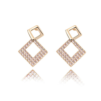 New arrival fashion accessories made with Swarovski elements crystal gold earrings designs for girls