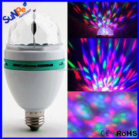 Christmas Stage Home Party Decorative Auto Rotating Mini LED Laser Light Bulb Disco Ball for Sale