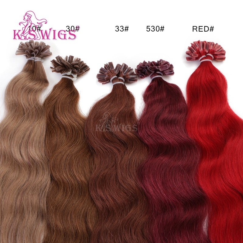 K.S WIGS 2016 Inventory U-tip Hair Extensions Wavy Style Popular colors Indian Virgin Hair Wholesale Order Prices Extensions