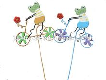 14x35CM Top Quality Wood Frog Windmill Toys with Promotions or Gifts