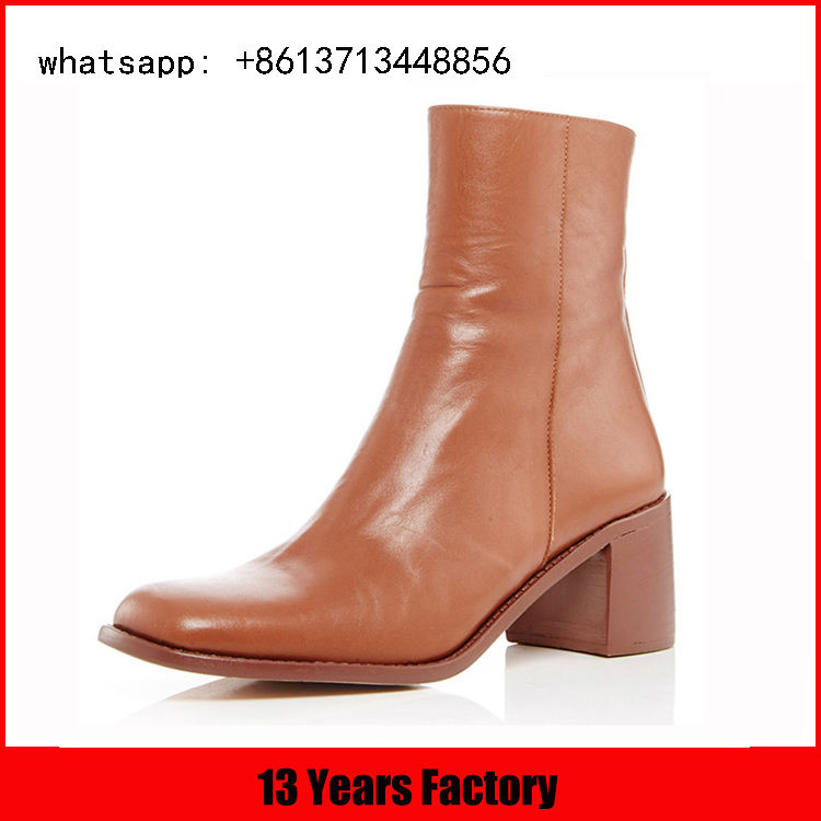 square toe design your own high quality leather half boot
