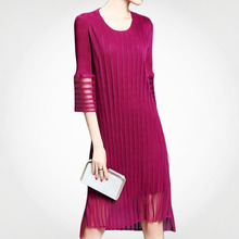 Hot Sale Online Shopping Knee Length Pleated Dress With Low MOQ