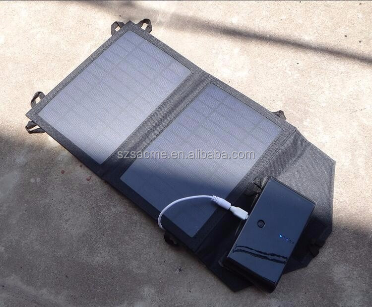7W outdoor travel Foldable solar panel charger 7W Monocrystalline solar panel