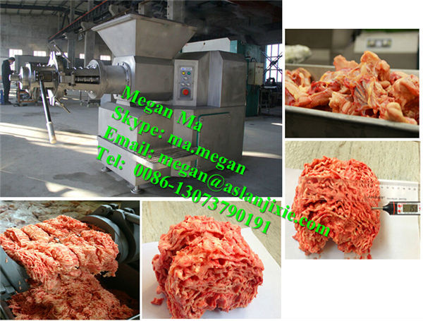 poultry meat deboner /chicken meat bone separating machine/Meat and bone separating machine