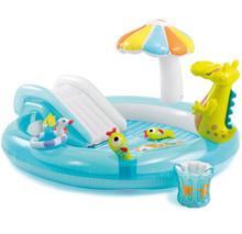 Intex 57129 Gator Play Center Inflatable children Kiddie Spray Wading swimming Pool with water Slide