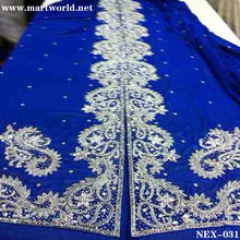 dark blue rhinestone and beaded Moroccan kaftan (NEX-031)